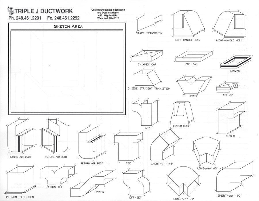 Ductwork - Custom Sheet Metal | Triple J Ductwork